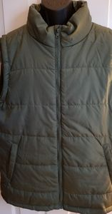 Open Trails NWOT Mossy Green Puffer Vest Jacket